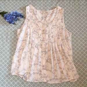 LC Lauren Conrad Playing Foxes Tank Blouse L